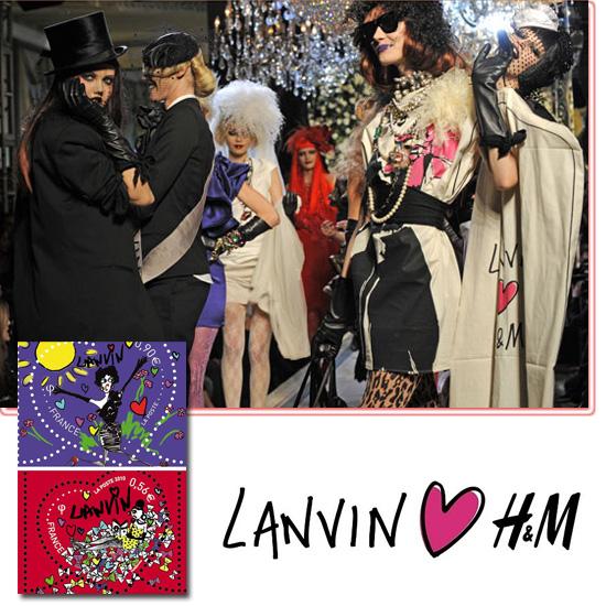 final del desfile y sellos Lanvin