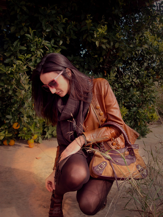 bolso marrón