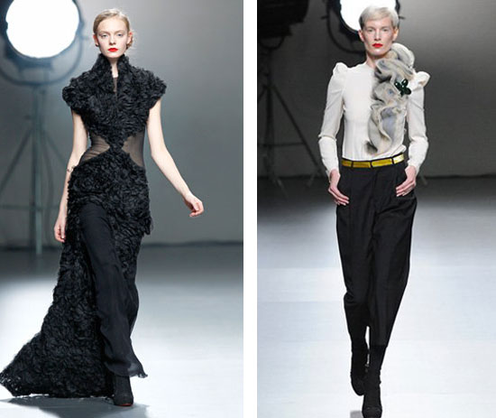 vestido largo negro de-victorio & lucchino