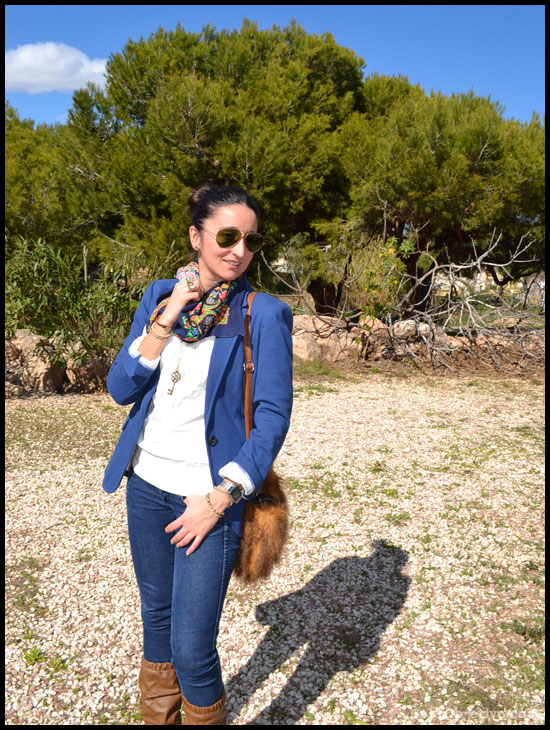 blazer azul de zara