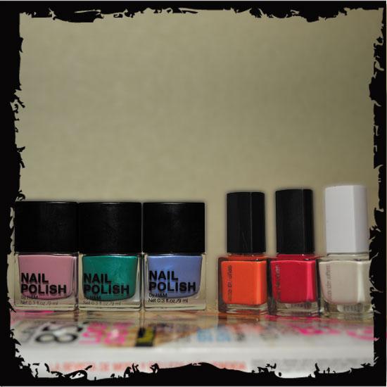 laca de uñas de colores