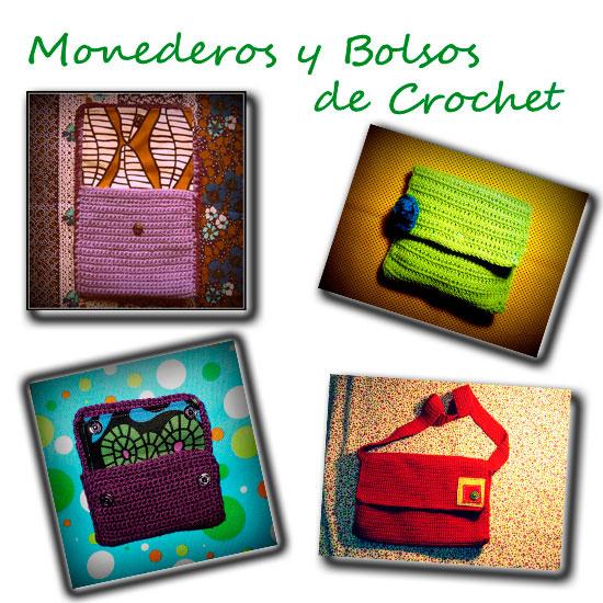 monederos y bolsos de crochet