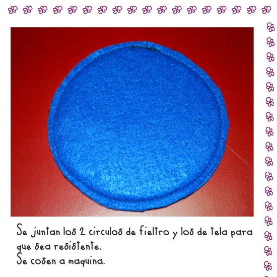 círculo de fieltro