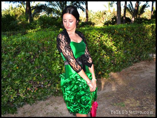 vestido verde de fiesta