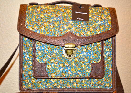 bolso maletín de flores