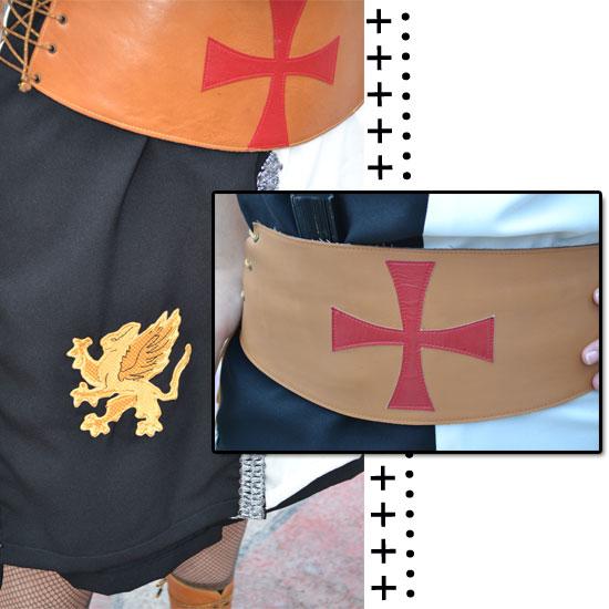cinturón de piel templario