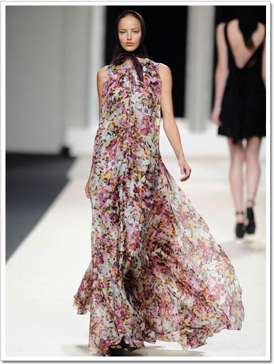 vestido gasa de flores