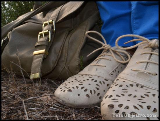bolso maletín y zapatos oxford