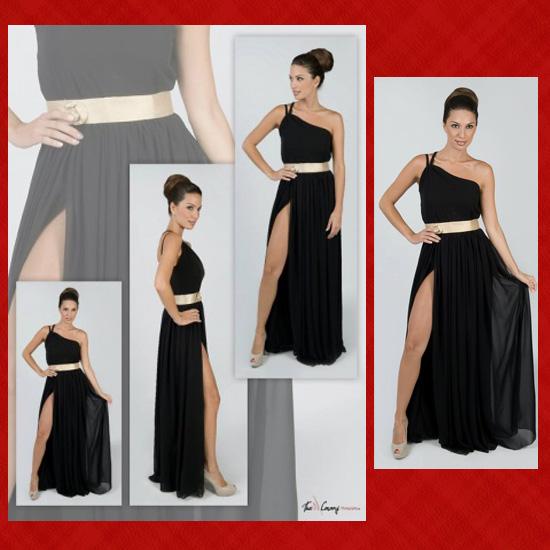 vestido negro daluna