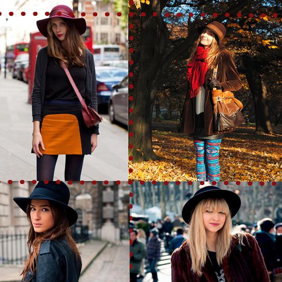 looks de otoño con sombrero