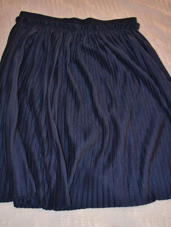 falda plisada