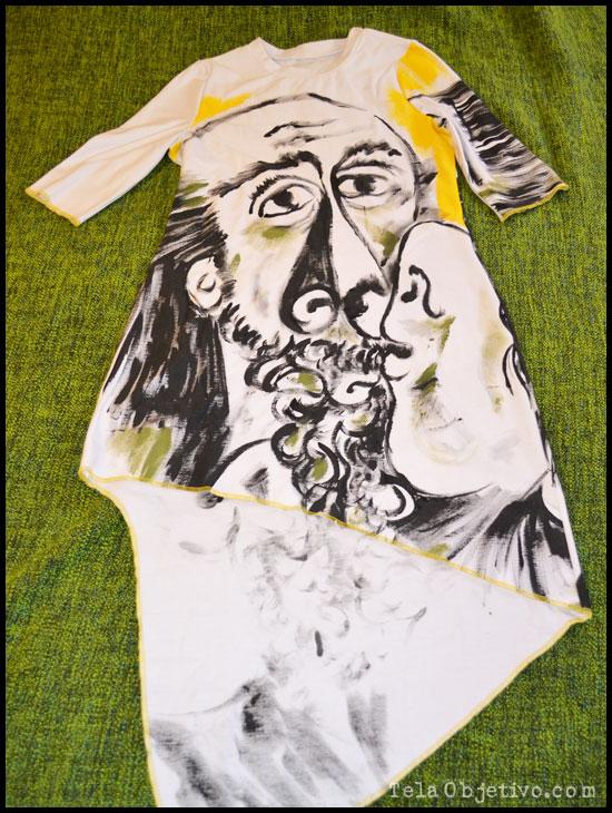 vestido pintado a mano