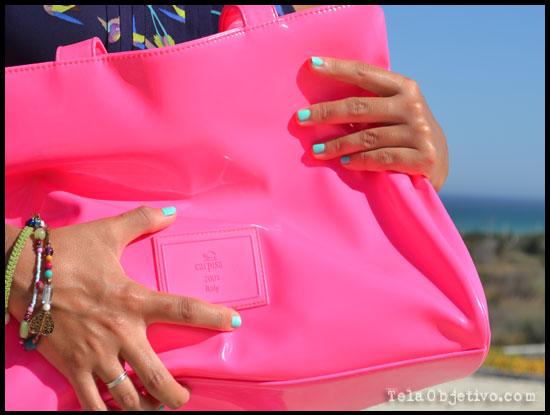 bolso rosa fluor