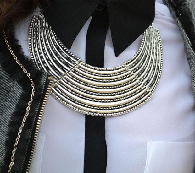 look clásico blanco y negro
