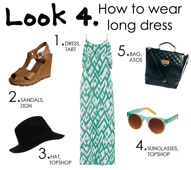 look con vestido largo