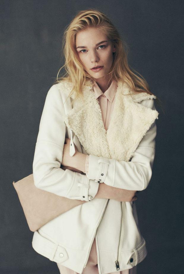 abrigo blanco primark