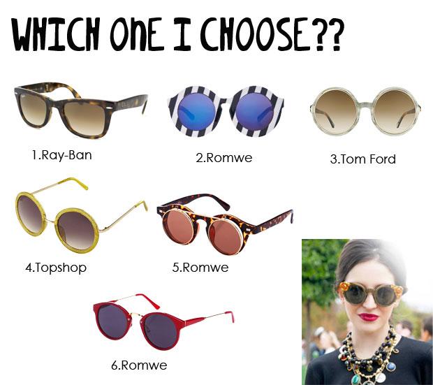 colección gafas de sol redondas
