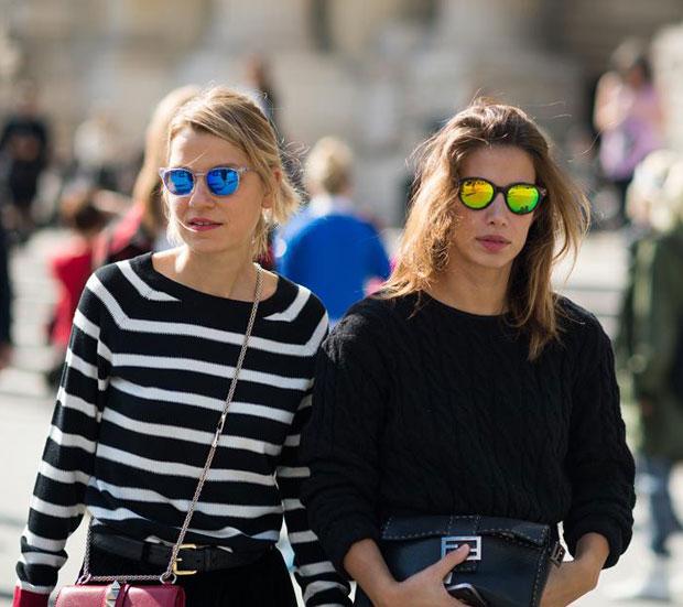 gafas de sol espejo de color