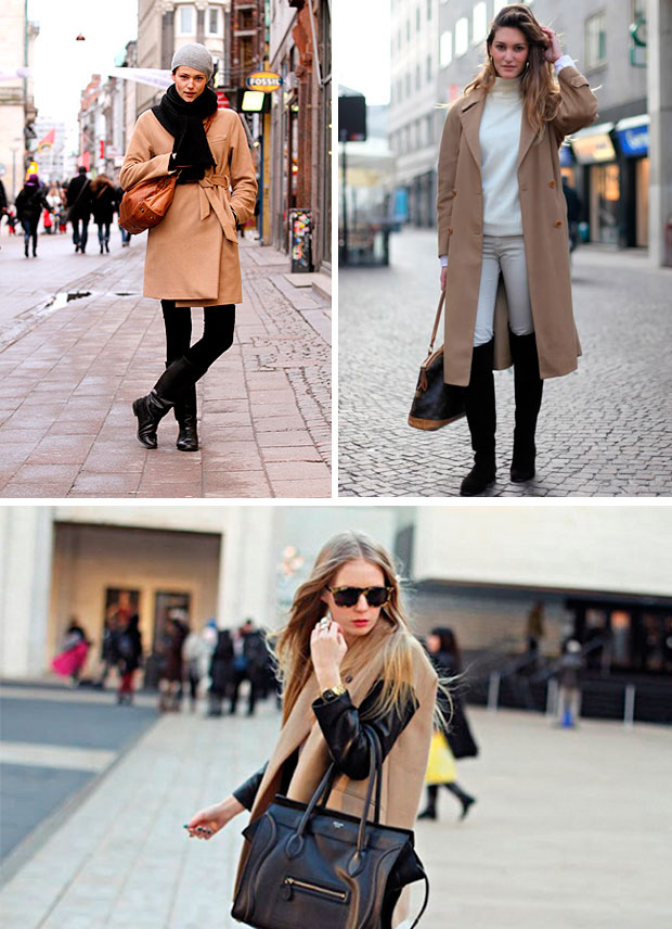 maneras de combinar un abrigo  camel