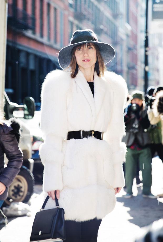 abrigo pelo blanco