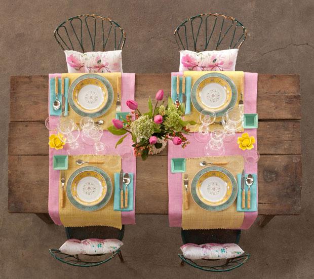 mesa decorada primavera