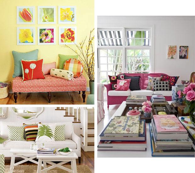 mobiliario decorativo de primavera