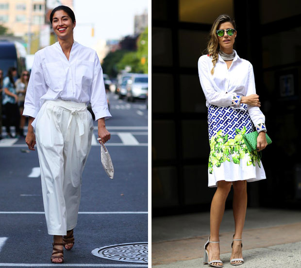 white total look
