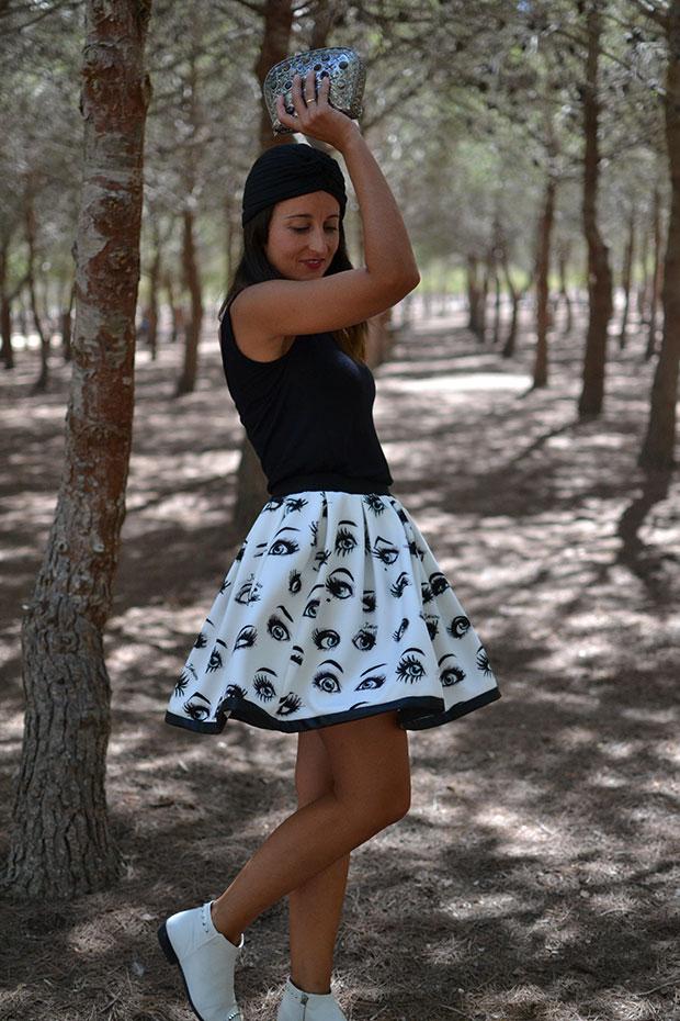 black&white look