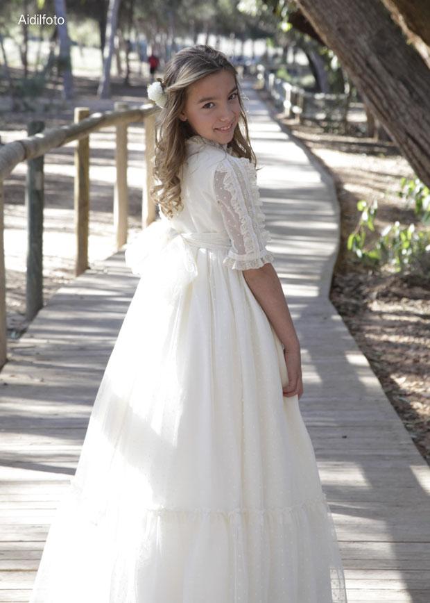 vestido comunión romántico