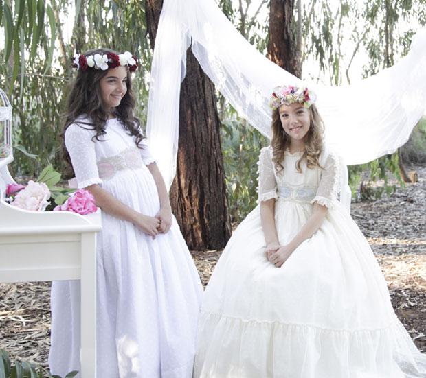 vestido comunión estilo romántico