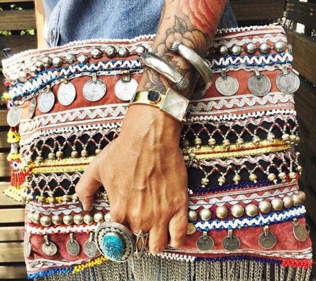 estilo hohemio en joyas