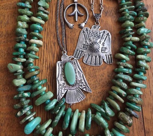 piedras verdes en joyas