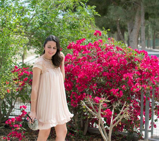 vestido plisado sheinside