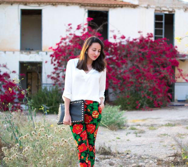 pantalones print floral