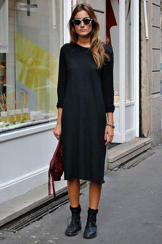 vestido tubo negro
