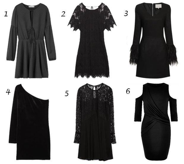 vestidos negros fiesta