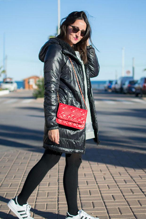 abrigo negro pepe jeans
