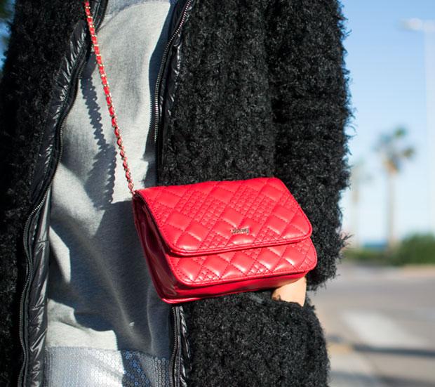 bolso rojo mustang