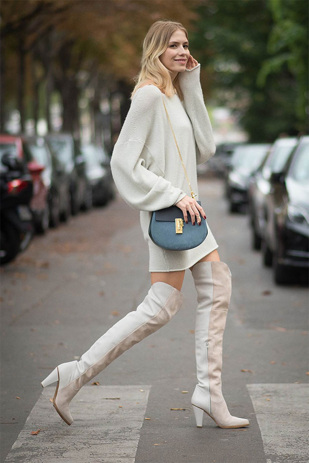 botas altas beige