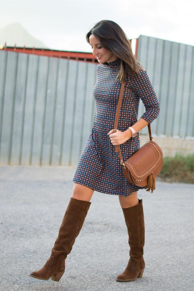 vestido otoño pull&bear