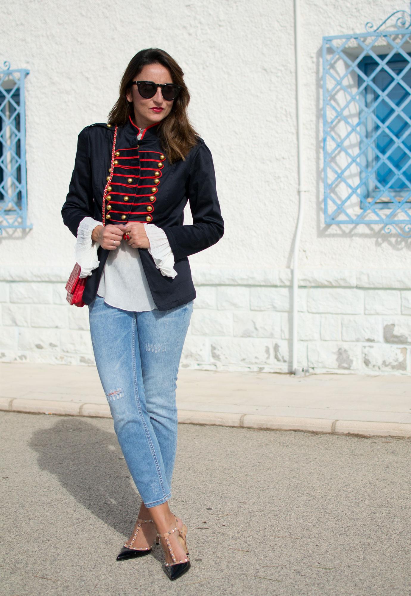 blusa mangas de campana