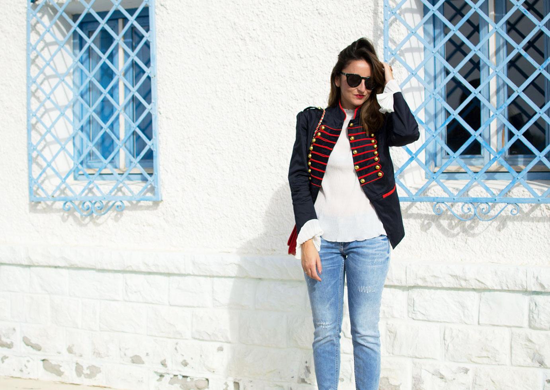 jeans desgastados zara