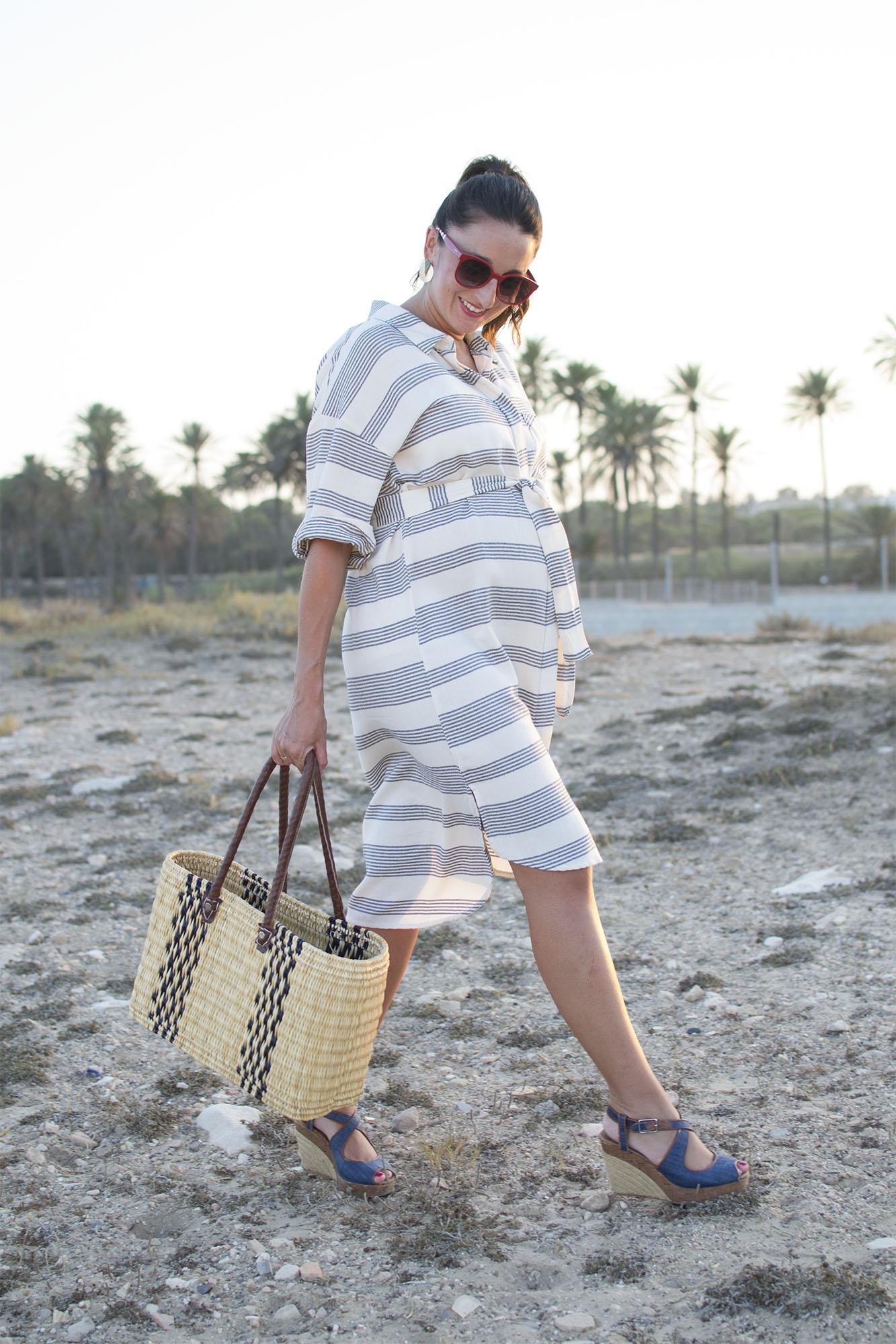 vestido camisero embarazada